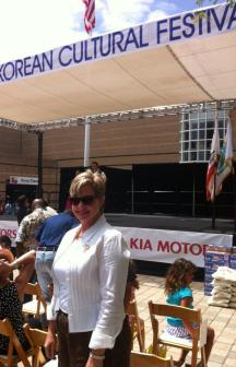 Irvine Commissioner Melissa Fox at Irvine Korean Cultural Festival